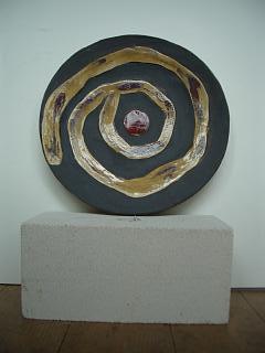 Spirale mit rotem Punk 2007